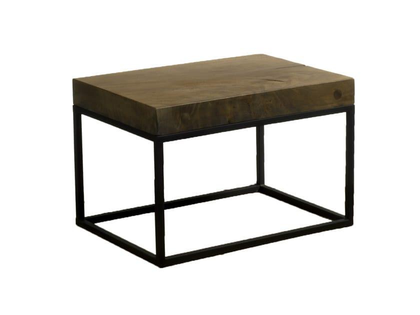 Low rectangular Suar wood coffee table MOBILIER D'INDONÉSIE | Suar wood coffee table by CFOC