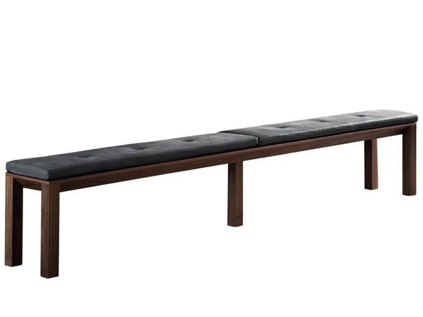 Walnut bench 0210   Bench by LA FAMIGLIA FURNITURE