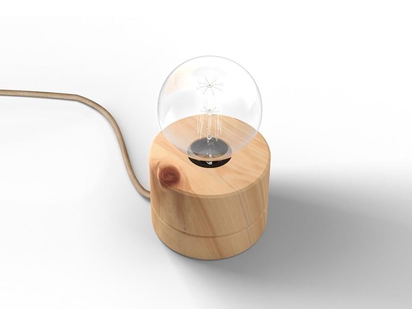 Handmade wooden table lamp 0239   Table lamp by ALMUT von Wildheim