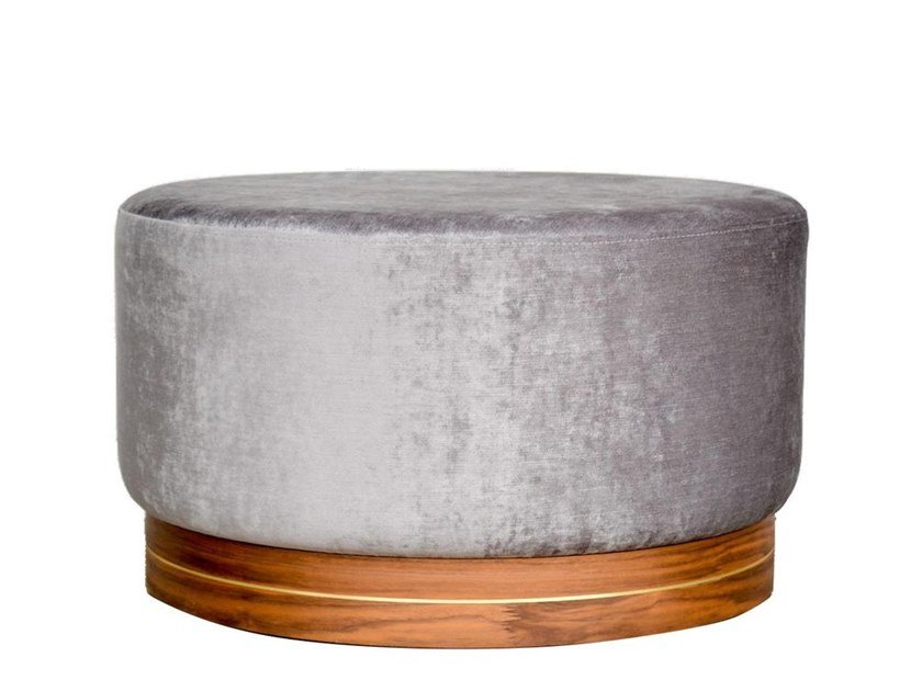 Upholstered velvet pouf 0320 | Velvet pouf by LA FAMIGLIA FURNITURE