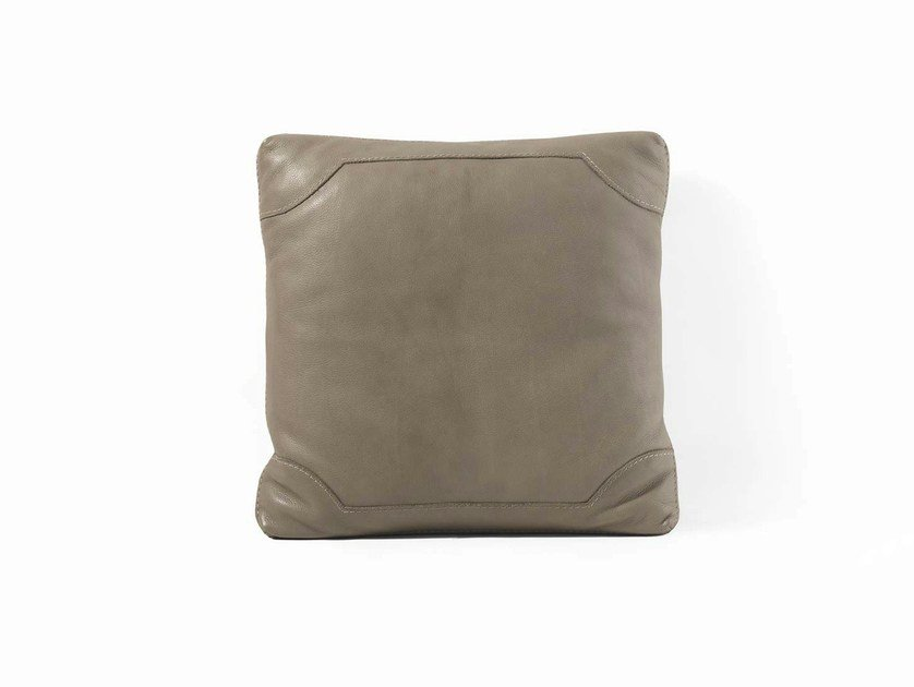 Square leather cushion 05 | Cushion by Frigerio Salotti