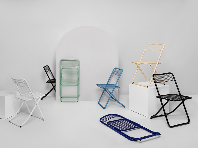 Folding powder coated steel chair 085 | Powder coated steel chair by Houtique