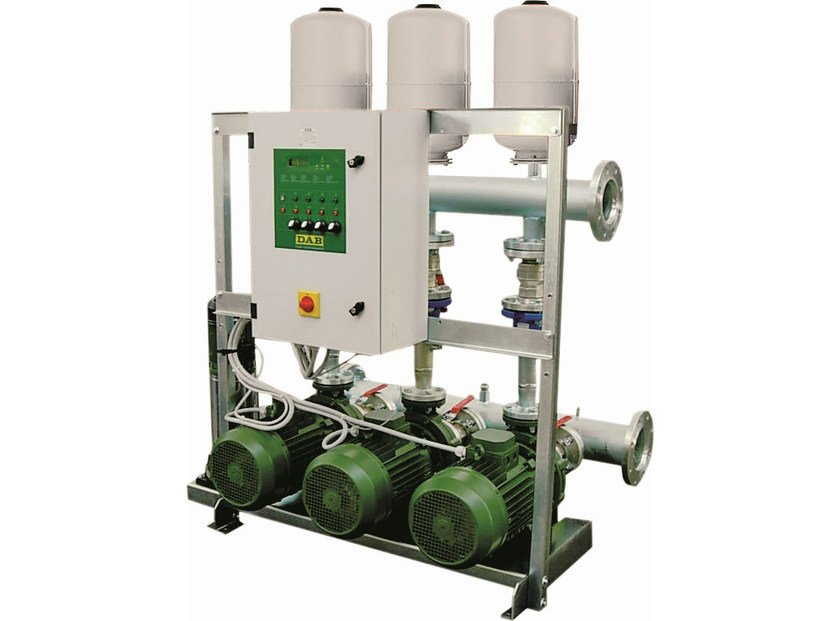 Gruppo di pressurizzazione con 1/2/3 pompe centrifughe serie 1/2/3 NKP-G/ 1/2/3 K by Dab Pumps