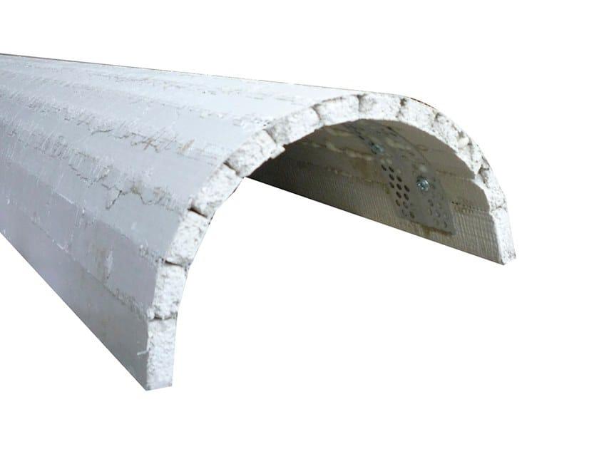 Lightweight cement cornice 1/2 COLONNA | Lightweight cement cornice by Biemme