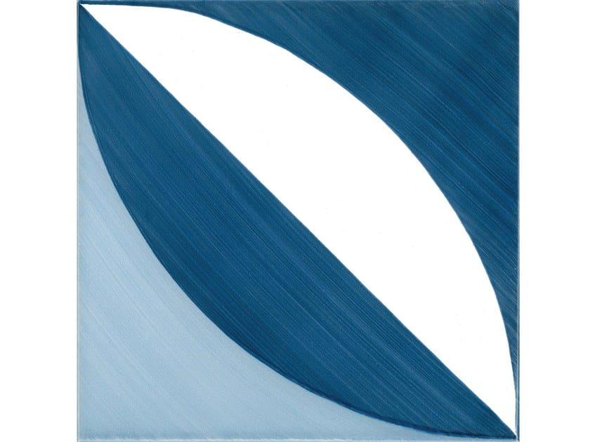 Rivestimento pavimento in ceramica 1. blu ponti by francesco de