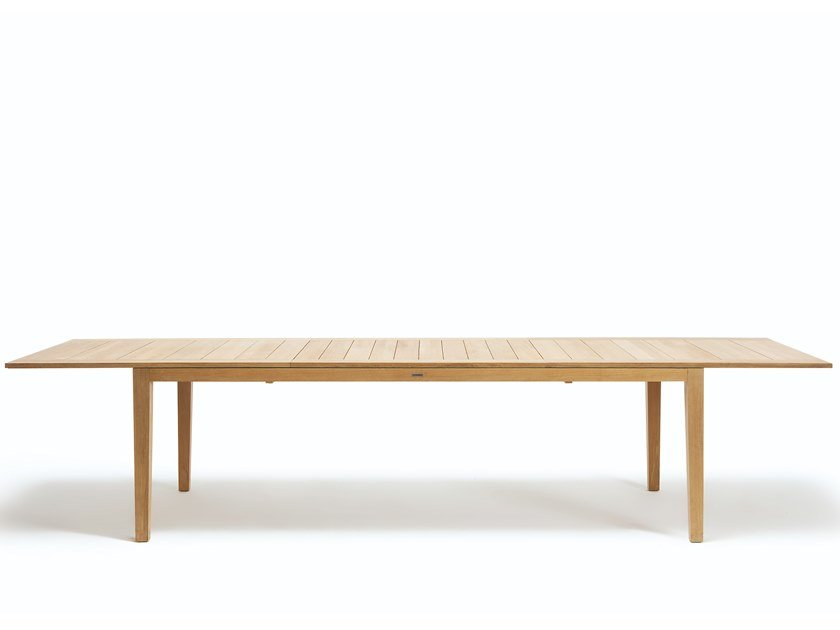 Extending rectangular teak garden table RIBOT | Extending table by Ethimo