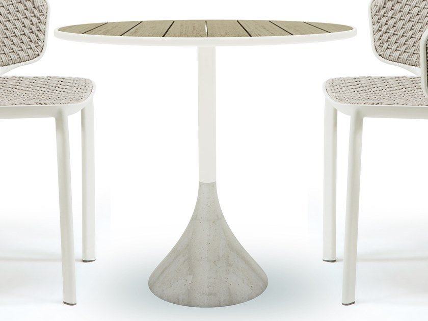 Round teak garden table CONCRETO | Teak table by Ethimo