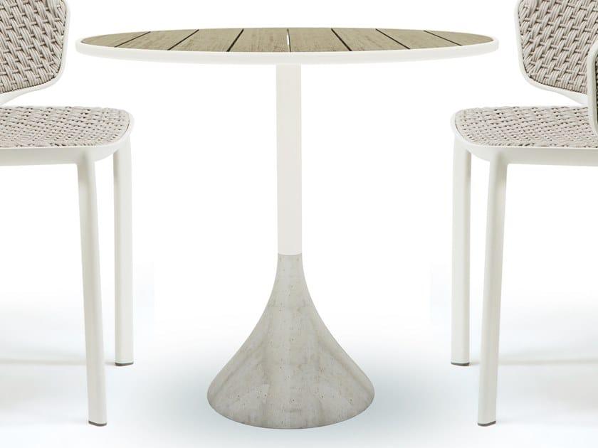 Tavoli Da Giardino In Cemento.Concreto Tavolo In Teak Collezione Concreto By Ethimo Design