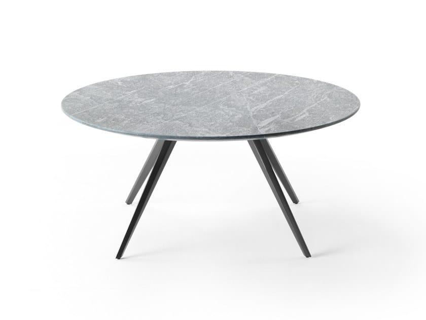 Round stone garden side table ZEFIRO   Round coffee table by FLEXFORM