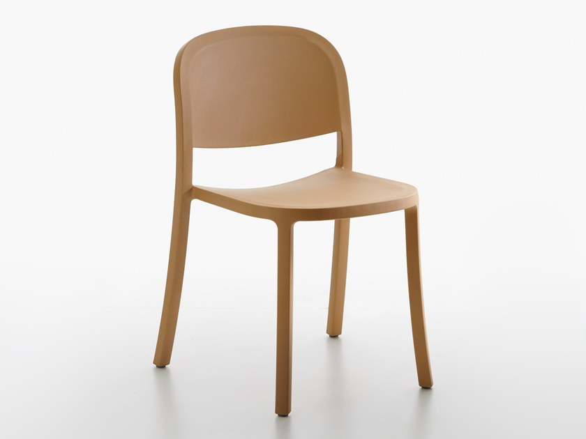 Stackable recycled material chair 1 INCH RECLAIMED by Emeco