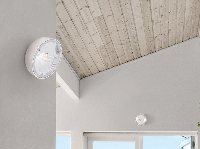 LED polycarbonate wall lamp KIT-04 QUID 160 by Lombardo