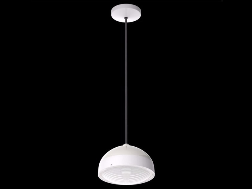 LED polycarbonate pendant lamp KIT-25 QUID 160 by Lombardo