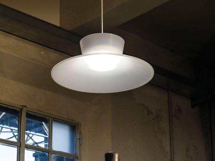 LED polycarbonate pendant lamp KIT-26 QUID 110 by Lombardo