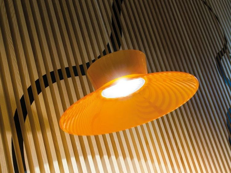 LED polycarbonate pendant lamp KIT-27 QUID 160 by Lombardo