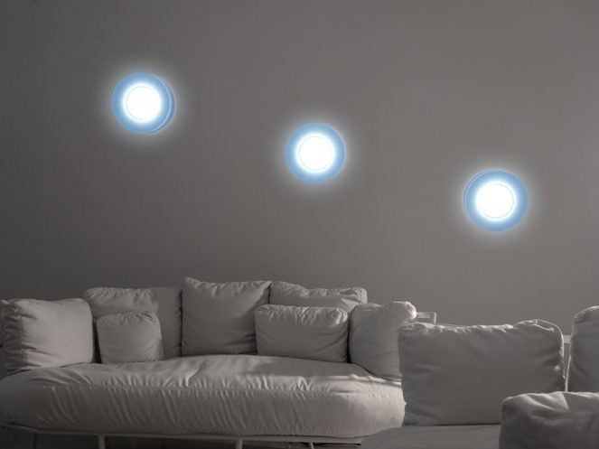 LED polycarbonate wall lamp KIT-14 QUID 110 by Lombardo