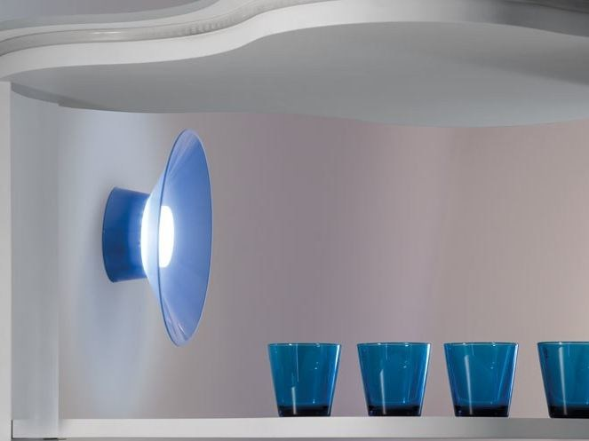 LED polycarbonate wall lamp KIT-23 QUID 160 by Lombardo