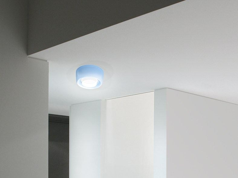 LED polycarbonate ceiling lamp KIT-20 QUID 160 by Lombardo