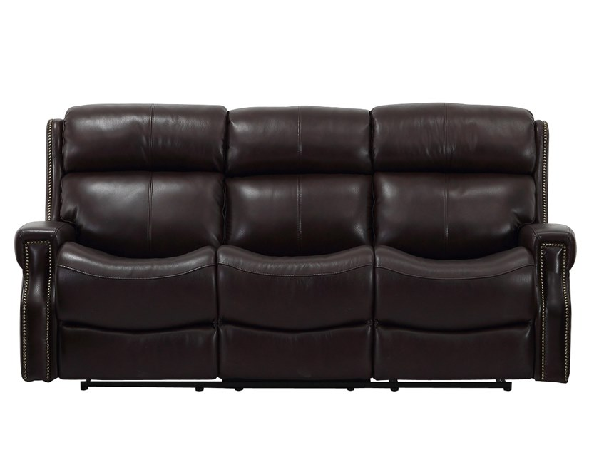 Recliner 3 seater leather sofa with electric motion