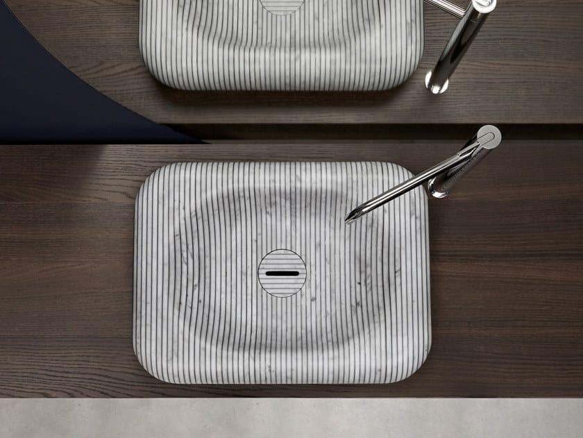 Countertop Carrara marble washbasin I GESSATI | Washbasin by Antonio Lupi Design