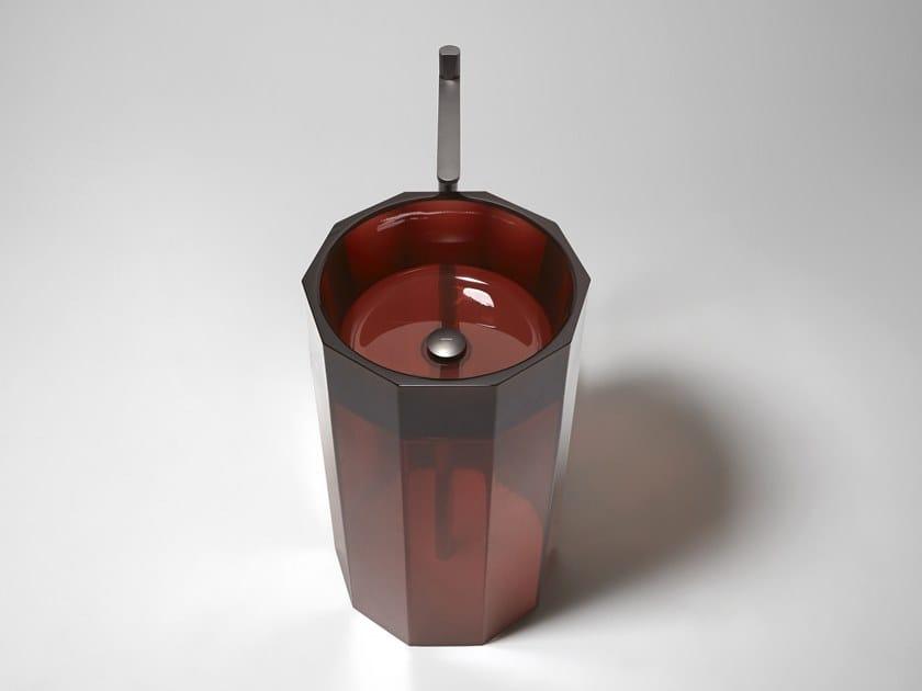 Freestanding Cristalmood® washbasin VITREO by Antonio Lupi Design