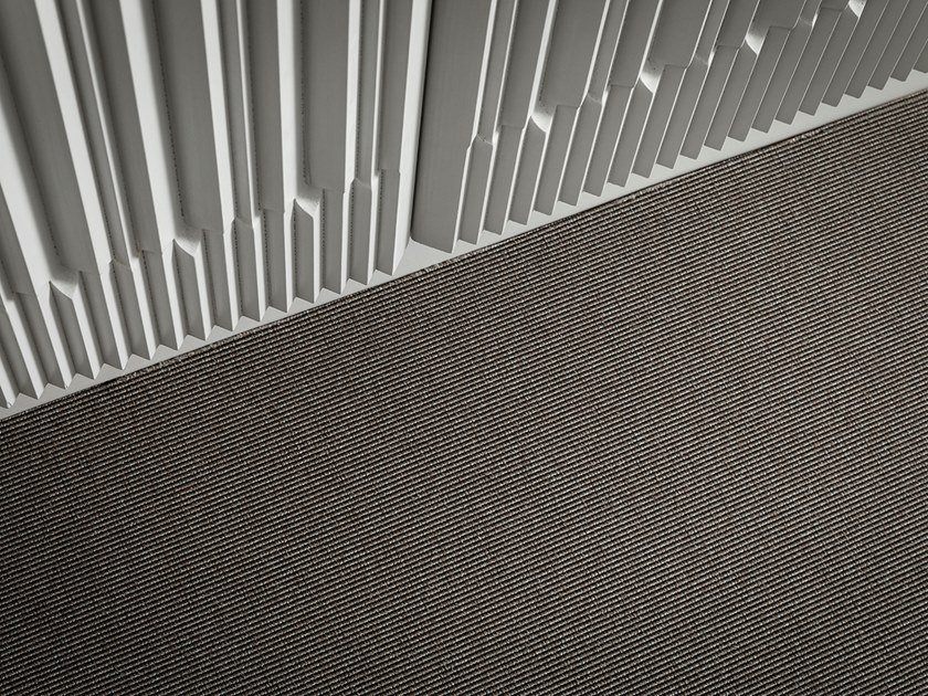 Solid-color polyamide carpeting ATHENA by Besana Moquette