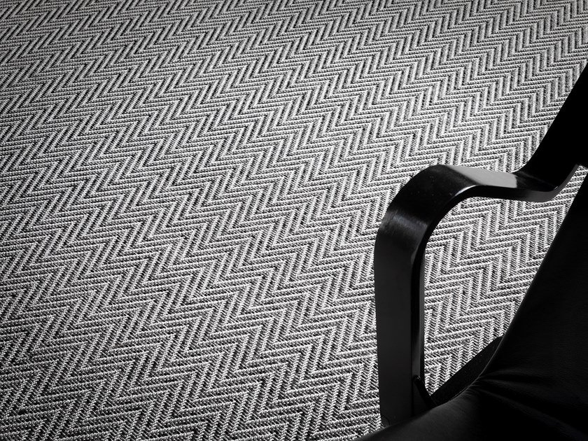 Solid-color polyamide carpeting SUMMER by Besana Moquette