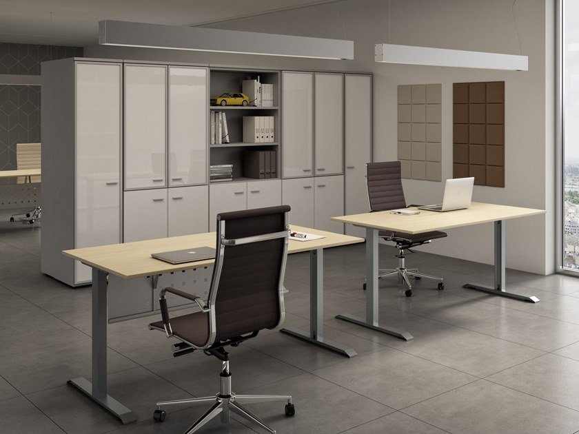 Rectangular office desk ISOLA | Rectangular office desk by CUF Milano