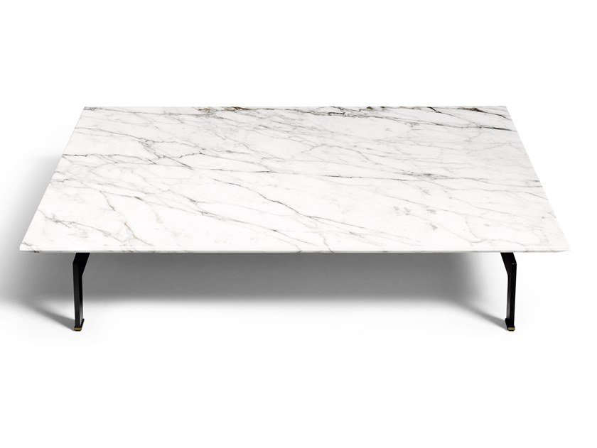 Square marble coffee table FLYING LANDSCAPE   Coffee table by DE PADOVA
