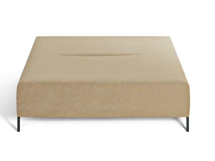 Square fabric pouf COMBI   Pouf by DE PADOVA