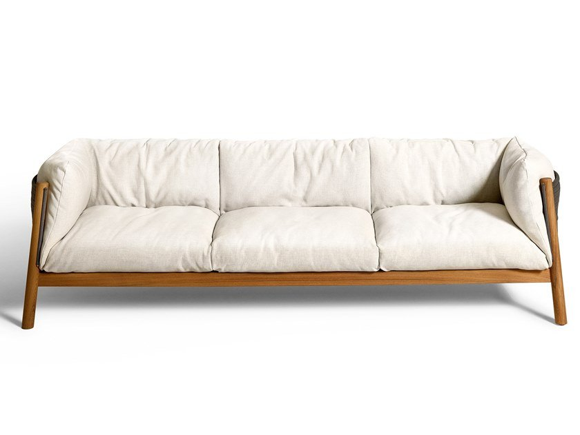 3 seater garden sofa with removable cover YAK OUTDOOR   Garden sofa by DE PADOVA