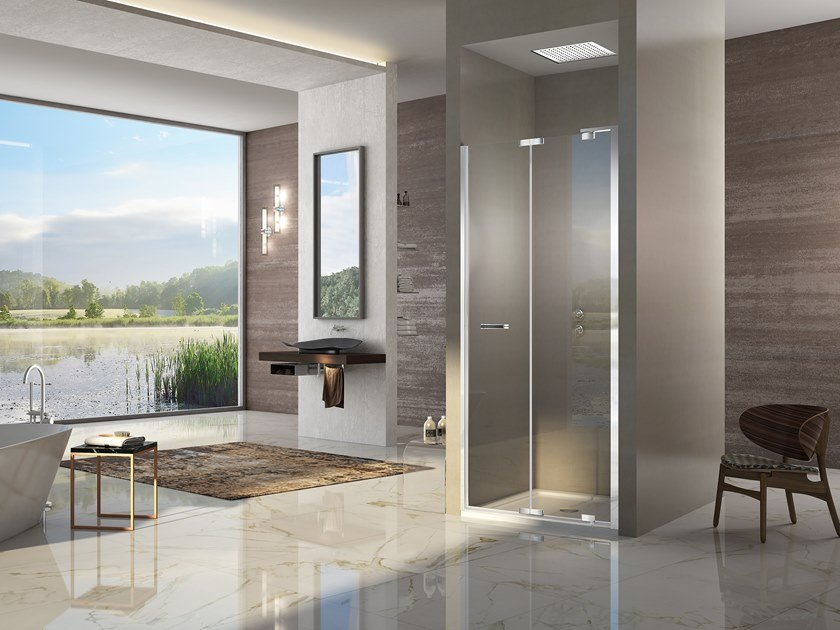 Niche shower cabin with folding door NATURA 4000 - A-FPN L/R by Duka