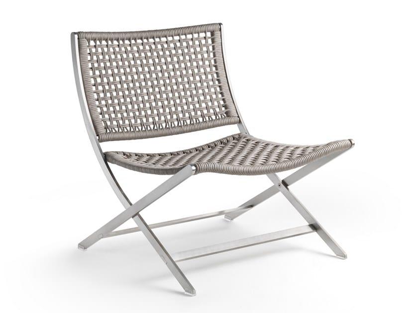 Garden synthetic fibre easy chair PETER | Garden easy chair by FLEXFORM