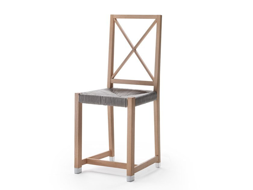 Solid wood garden chair MOKA OUTDOOR | Solid wood chair by FLEXFORM