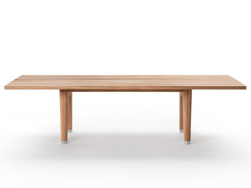 Rectangular solid wood garden table MONREALE | Garden table by FLEXFORM