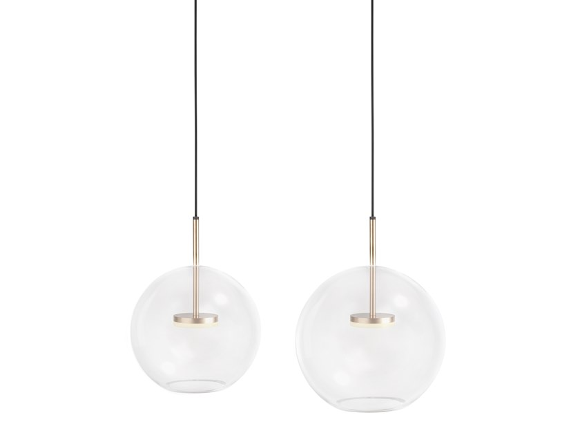 LED glass pendant lamp JACQUELINE BOWL by Flexlite