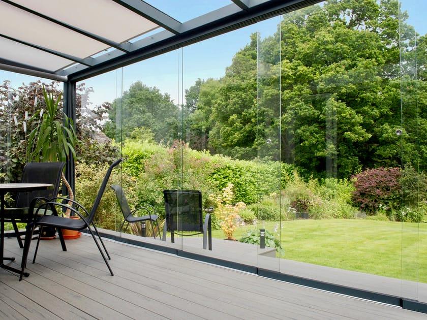 Sliding glass facade Glass sliding system by Gardendreams