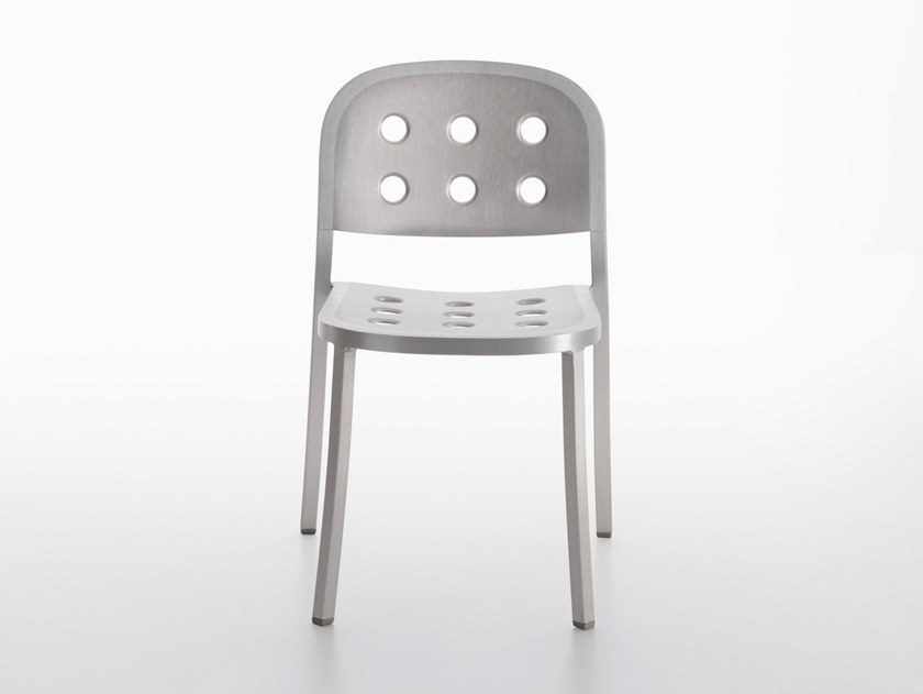 Stackable aluminium chair 1 INCH ALL ALUMINUM | Chair by Emeco