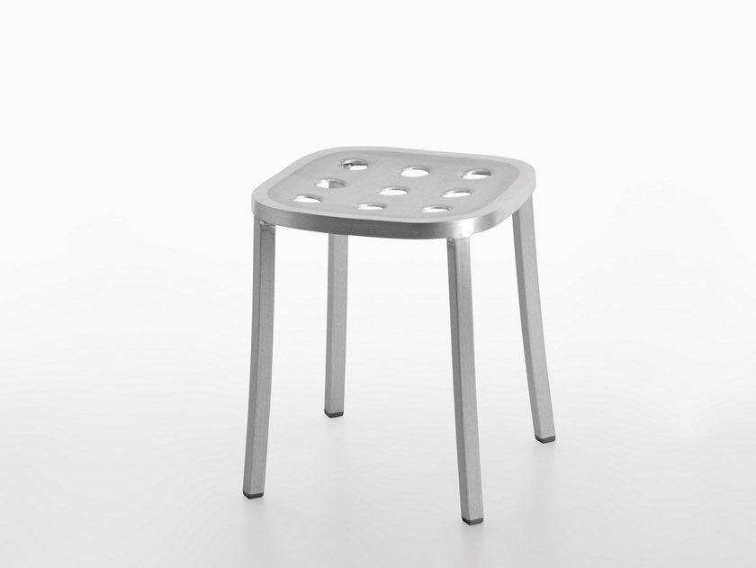 Low stool 1 INCH ALL ALUMINUM | Low stool by Emeco