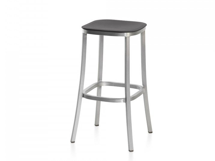 High polypropylene stool with footrest 1 INCH | Barstool by Emeco