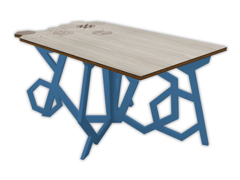 Low rectangular MDF coffee table MG-317 | Coffee table by LAS