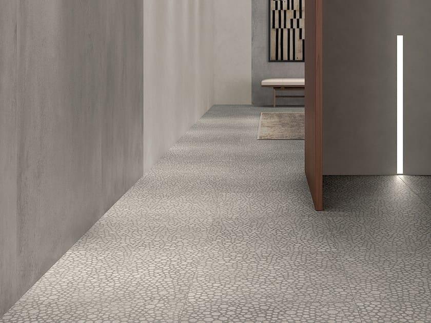 Porcelain stoneware wall/floor tiles with concrete effect ZOOM FOAM GLOW by LEA CERAMICHE