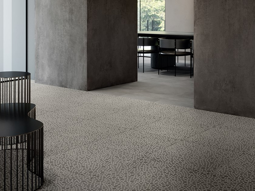 Porcelain stoneware wall/floor tiles with concrete effect ZOOM FOAM SHADE by LEA CERAMICHE