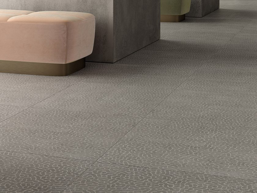 Porcelain stoneware wall/floor tiles with concrete effect ZOOM MIX 60 by LEA CERAMICHE