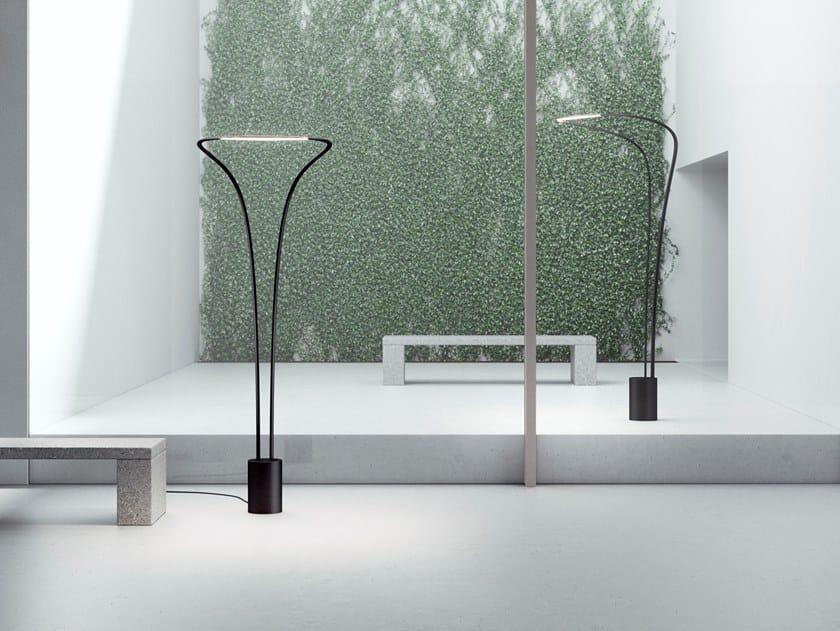 LED indirect light aluminium floor lamp AMIDABA | Floor lamp by LUCEPLAN