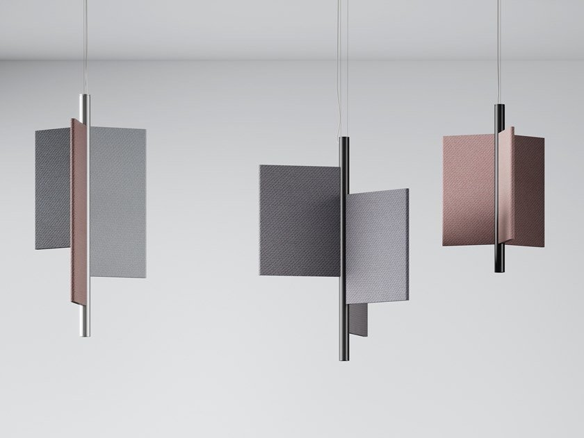 Direct-indirect light pendant lamp TRYPTA by LUCEPLAN