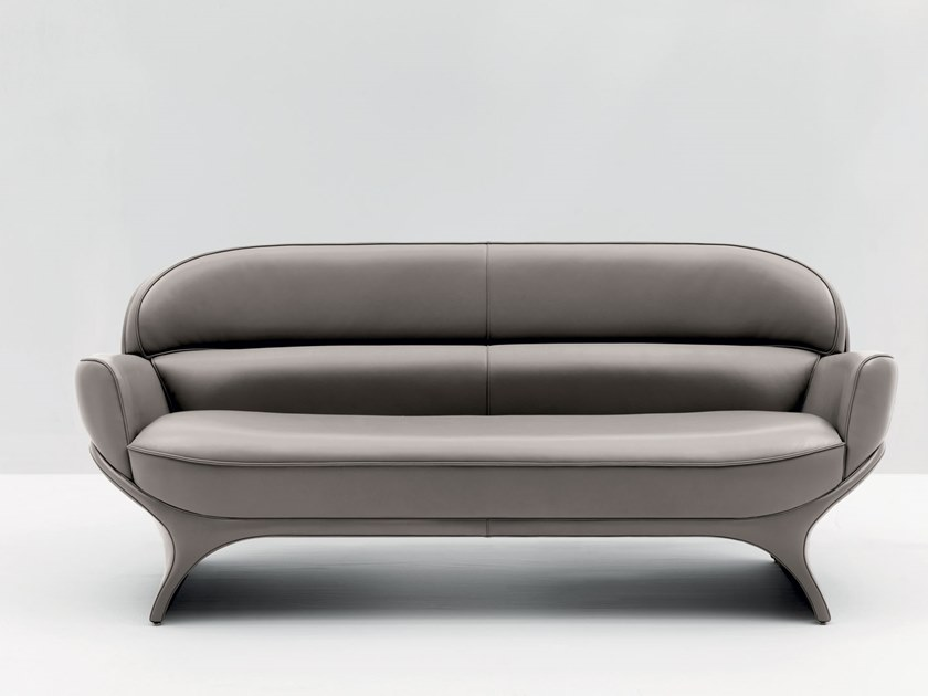 3 seater leather sofa LA GOCCIA | 3 seater sofa by Mascheroni