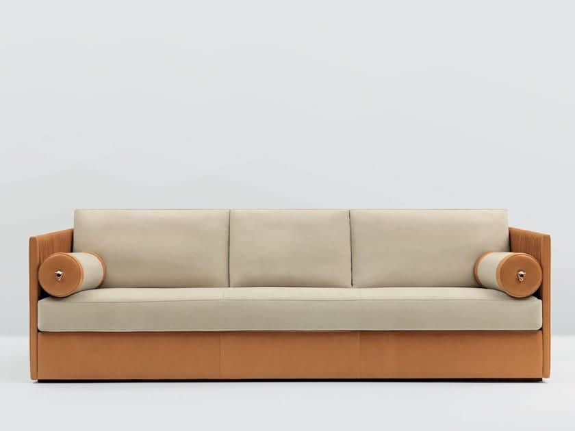 4 seater leather sofa MERYL by Mascheroni