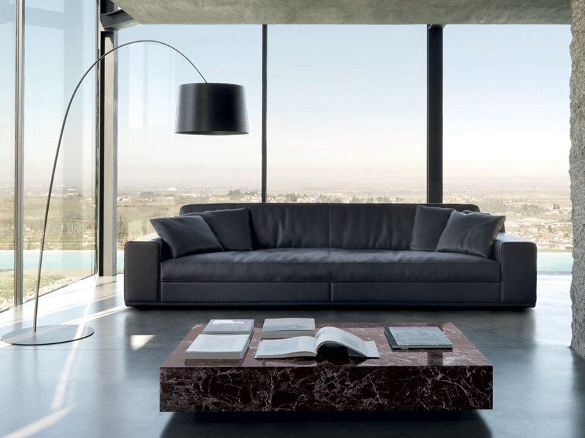 Modular leather sofa METAMORFOSI by Mascheroni