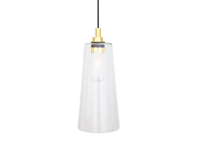 Direct light handmade glass pendant lamp CARI by Mullan Lighting