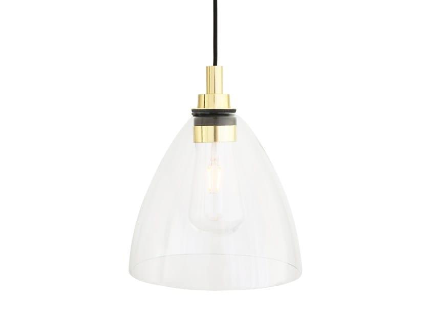 Direct light handmade glass pendant lamp CASPIAN by Mullan Lighting